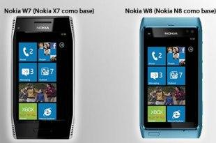 Nokia W7 y Nokia W8