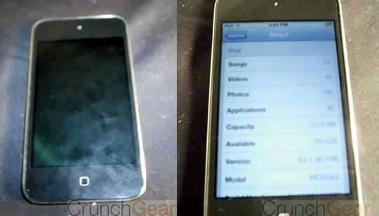 iPod Touch sin boton o capacitivo