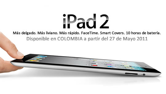 Apple iPad 2 Colombia Mayo