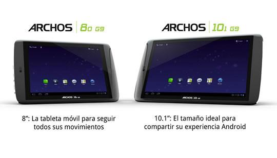 Archos 80 G9 y 101 G9