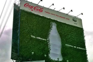 Valla Publiciraria que absorbe dióxido de carbono
