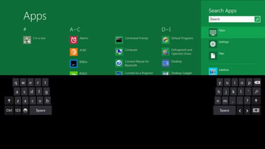 Windows 8 - Teclado