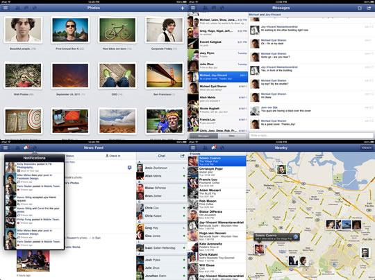 Foto Facebook App para iPad
