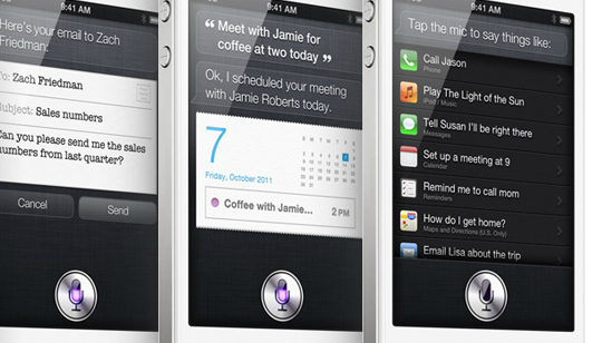 Apple Siri iPhone 4 iPad 2