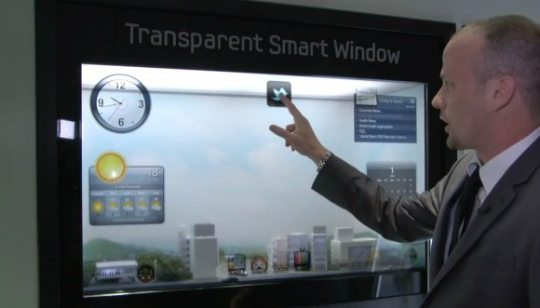 Samsung Transparent Smart Windows - LCD Transparente