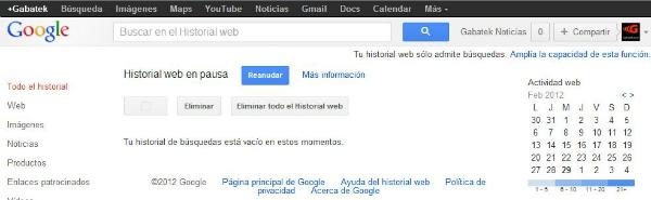 Historial Web