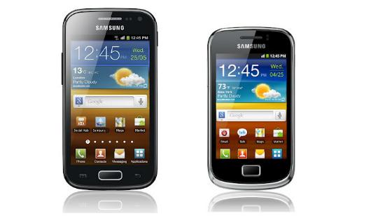 Nuevo Samsung Galaxy Ace 2 y Galaxy Mini