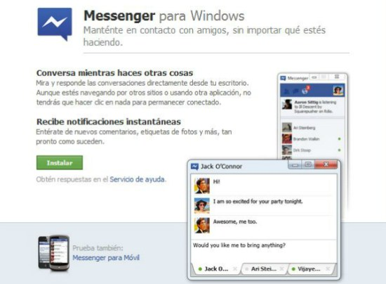 Facebook Messenger para Windows