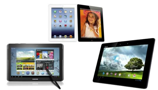 Nuevo iPad Samsung Galaxy Note ASUS Transformer Infinity