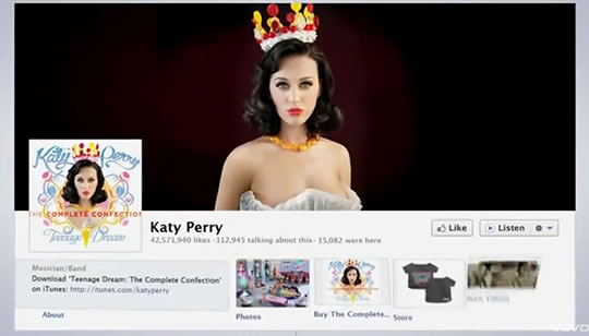 Katy Perry Facebook Timeline Video
