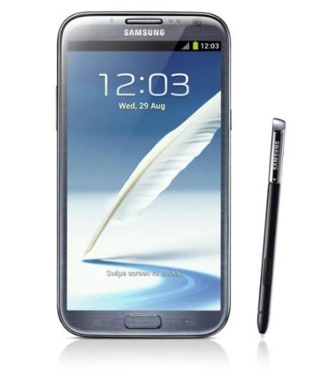 Galaxy Note 2 Pantalla