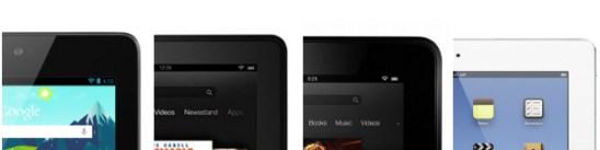 Nexus 7 Kindle Fire HD iPad