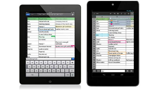 Google Drive App Excel