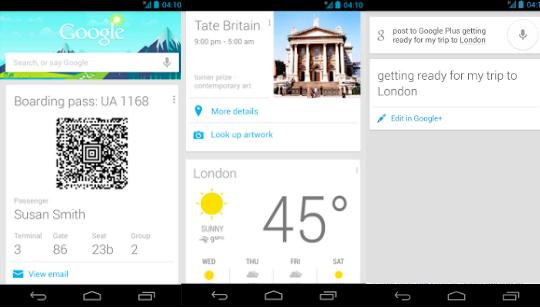 Google Now Funcionalidades
