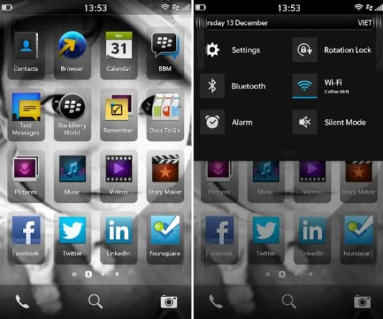 Home BlackBerry 10