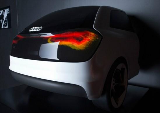 Carro Audi con OLED