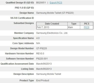 Samsung Galaxy Tab 3 Plus LTE GT-P8220