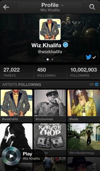 Perfil Twitter Music