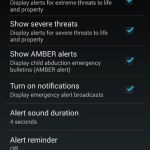 Android 4.3 Opciones Brodcast