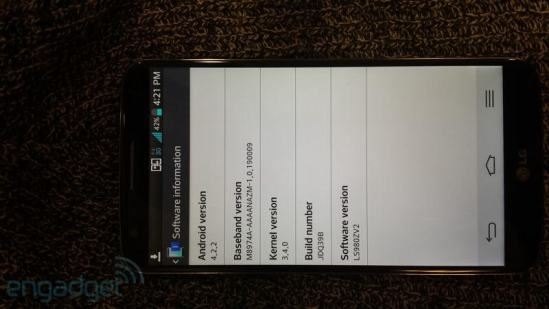 LG Optimus G2 Android Jelly Bean