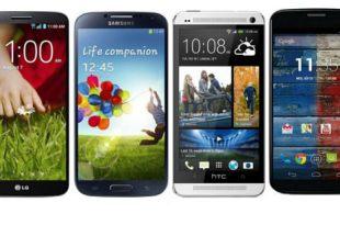 LG G2 vs GS4 HTC One Moto X