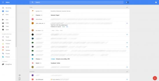 Menu Gmail