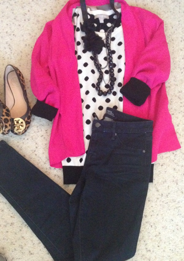 OOTD: Leopard + Polka Dots + Pink