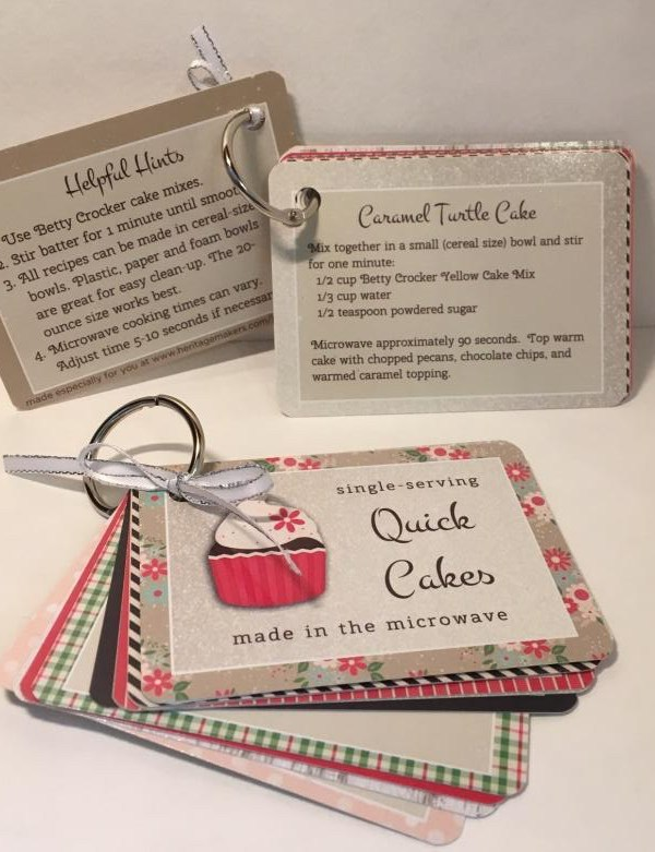 DIY girlfriend or neighbor gifts:  Quick Cakes Recipe Cards by guest blogger Jennifer Wise