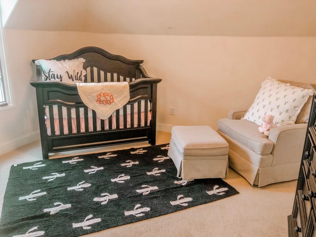 Ginger Cactus Baby Girl Nursery