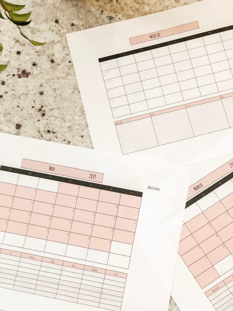 Influencer/Blogger Calendar & Planner