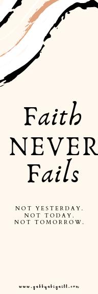 Faith never fails bookmark