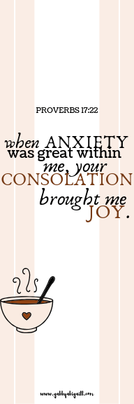 when anxiety was great within me bookmark