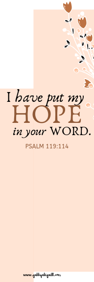 I have put my hope in your word design