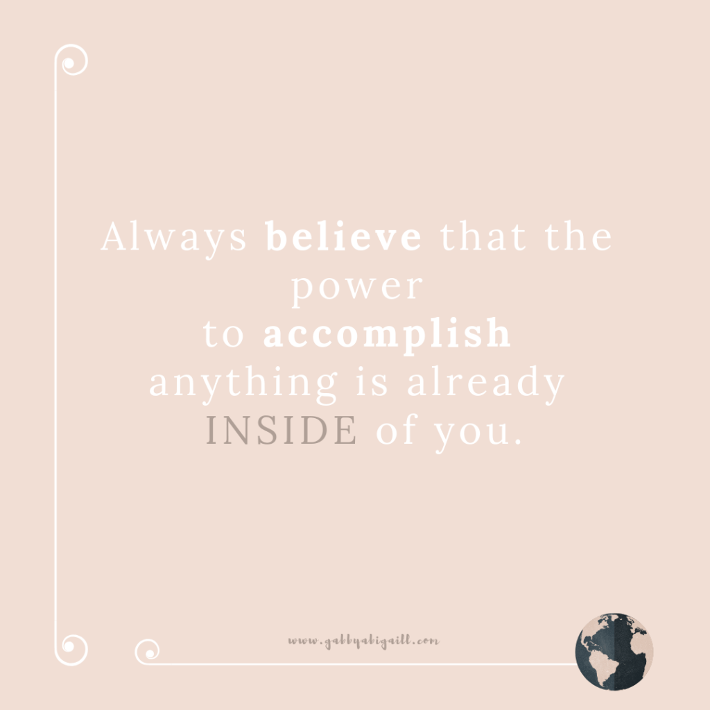 A quote about believing in yourself