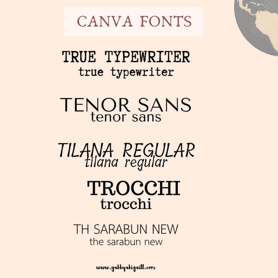 Bloggers Favorite: The best FONTS in Canva  - GABBYABIGAILL