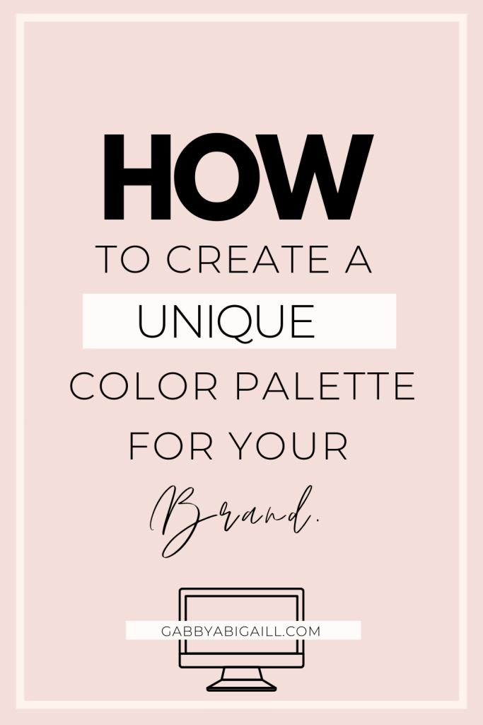 how to create a unique color palette for your brand
