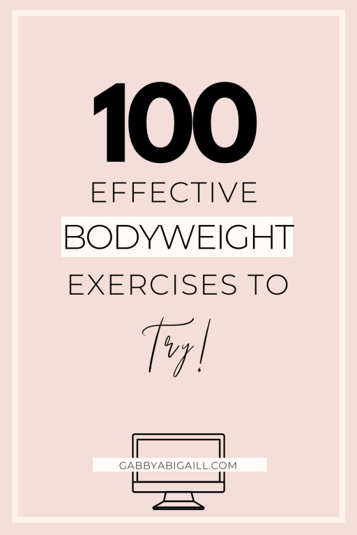 100 effective bodyweight exercises to try