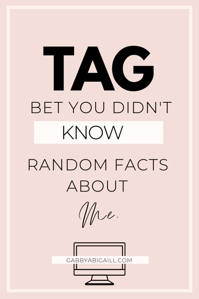 bet you didn't know random facts about me tag