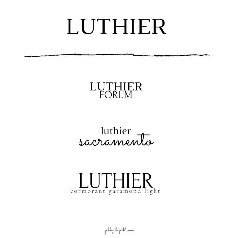 Luthier Font and other canva fonts to use in your graphics.