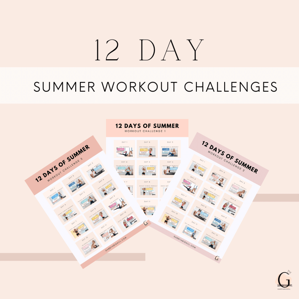 12 Day Summer Workout Challenges
