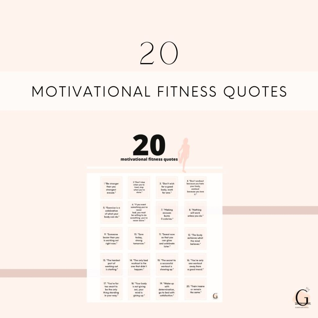 20 Motivational Fitness Quotes To Get You To Workout Gabbyabigaill