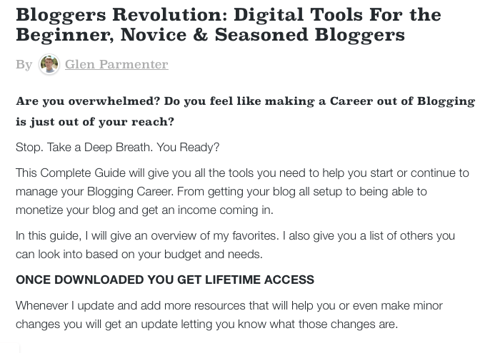 Blogger's Revolution eBook Description