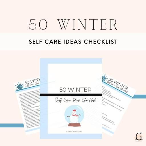 50 winter self care ideas checklist resource library