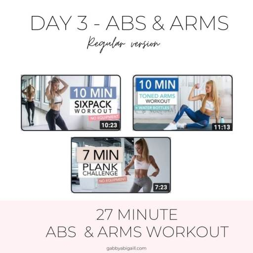 day 3 abs and arms regular version