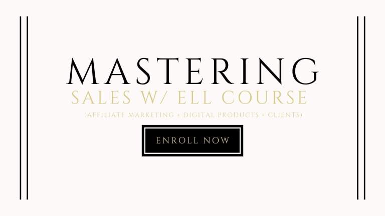 mastering sales with ell course