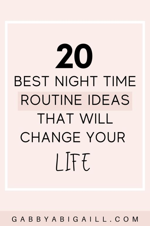 20 best night routine ideas that will change your life pin