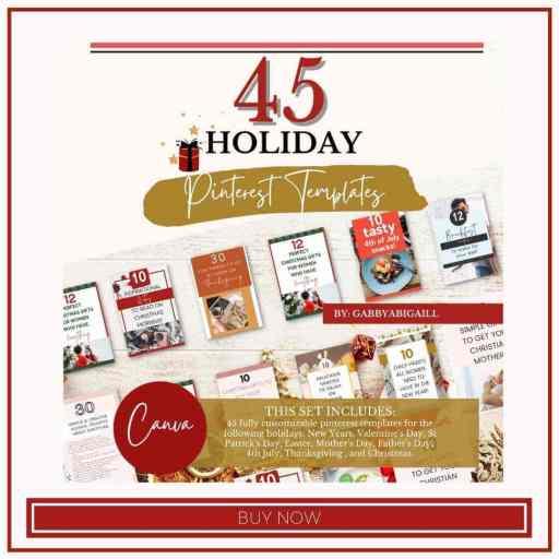45 holiday pinterest templates shop