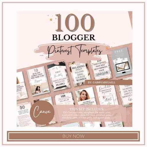 100 blogger pinterest templates shop