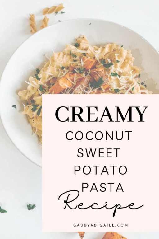 creamy coconut sweet potato pasta recipe