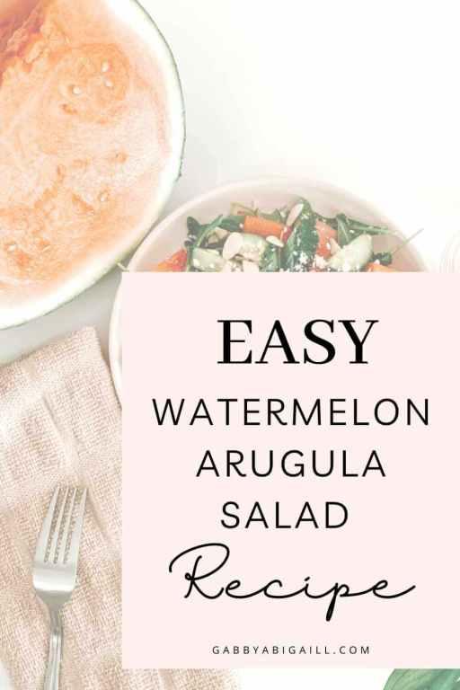 easy watermelon arugula salad recipe